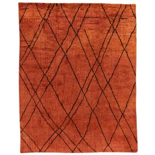 "21st Century Modern Moroccan Style Rug, 9'5"" X 11'8"" For Sale"