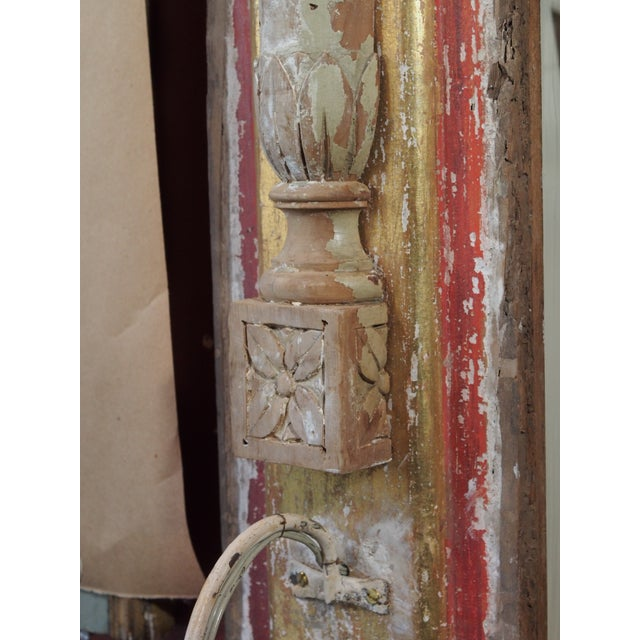 Rustic Pair of Architectural Sconces For Sale - Image 3 of 7
