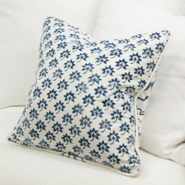Les Indiennes Fabric Pillow Cover For Sale - Image 4 of 5