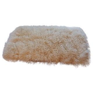"White Curled Haired Tibetan Sheep Rug -- 2'1"" x 4'"