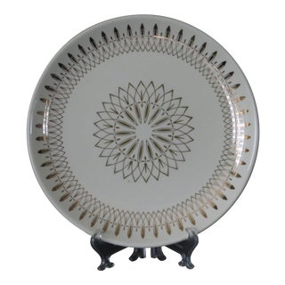 1960s Atomic Starburst Pattern Dinner Plate For Sale