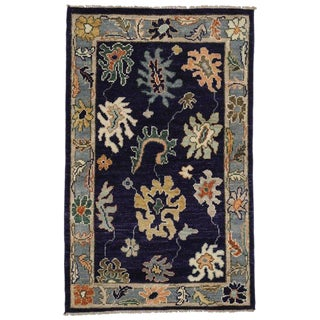 Turkish Oushak Accent Rug - 3′8″ × 5′10″ For Sale