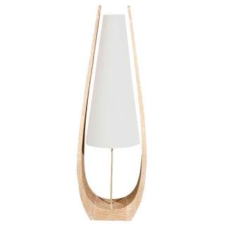 Wishbone Table Lamp in Ceruse Oak For Sale