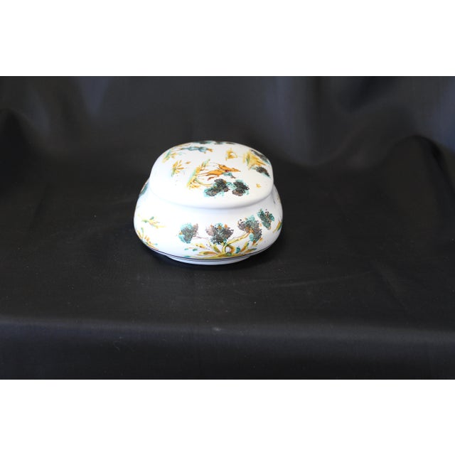 Italian Vintage Ernan Albisola Italian Ceramic Lidded Trinket Box For Sale - Image 3 of 11