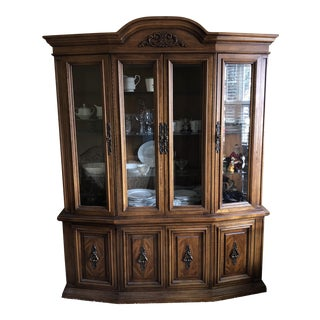 1970s Traditional Wooden Hutch For Sale