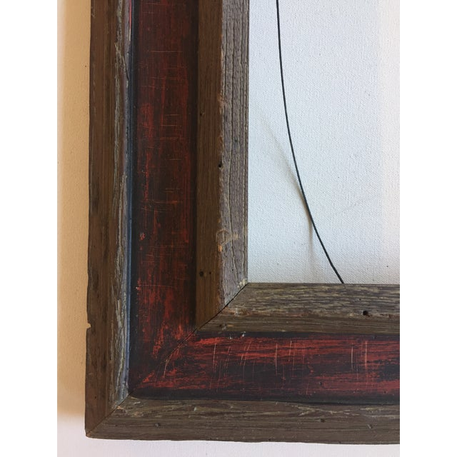 Mid-Century Painted Wormwood Frame - Image 3 of 7