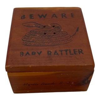 """Baby Rattler"" Trinket Box For Sale"