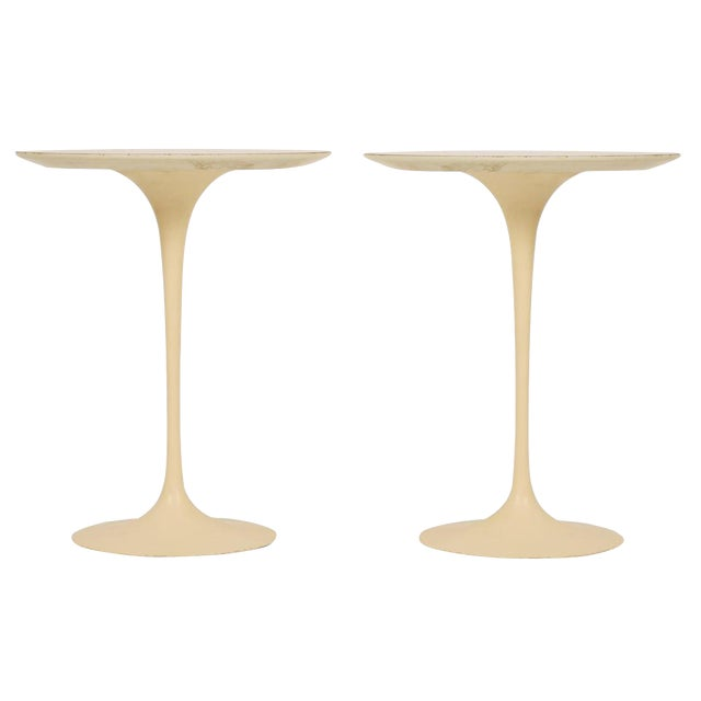 Eero Saarinen for Knoll International Cast Iron 'Tulip' Side Tables - a Pair - Image 1 of 3