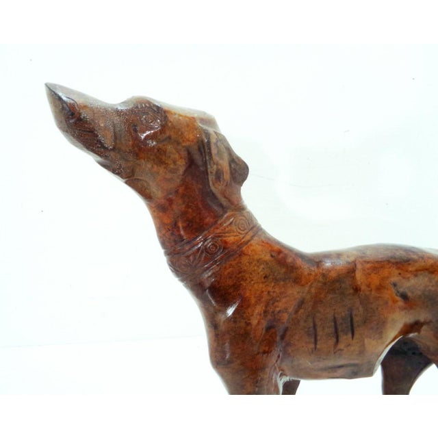English Bronze Iron Whippet Greyhound Statue Doorstop For Sale - Image 3 of 7