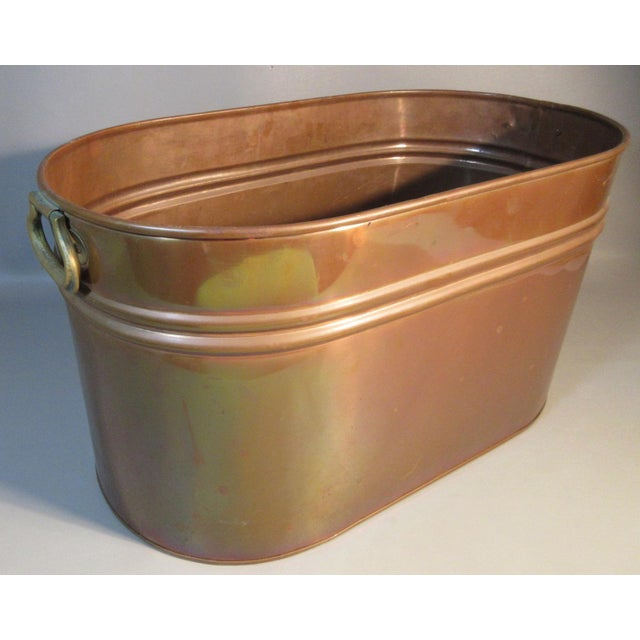 Vintage Copper Lined Copper Boiler Wash Tub For Sale In Providence - Image 6 of 6