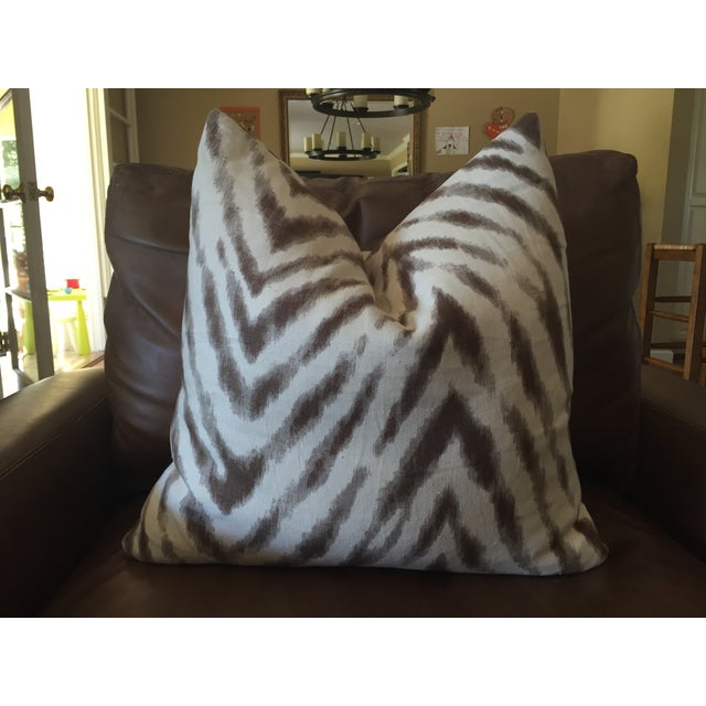 Barclay Butera Brown & White Zebra Pillows - Pair - Image 2 of 6