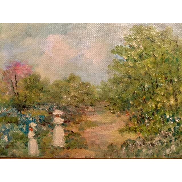 Oil Painting of Stroll in the Countryside - Image 5 of 5