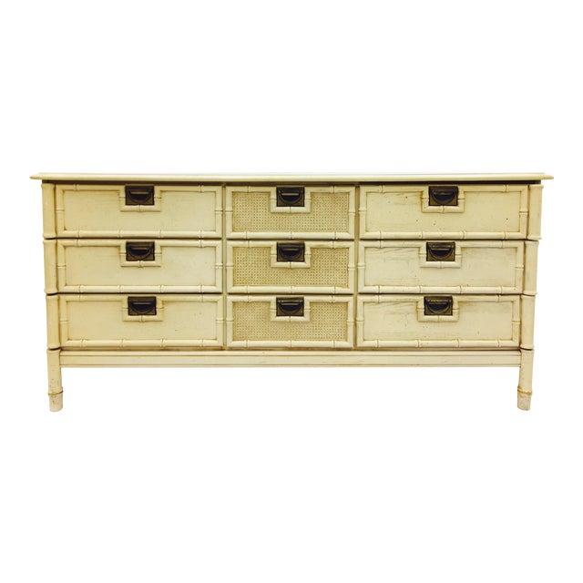 Vintage Faux Bamboo Dresser For Sale