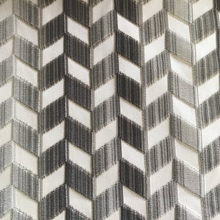 6 Yards Schumacher Velvet Chevron Strie Fabric For Sale