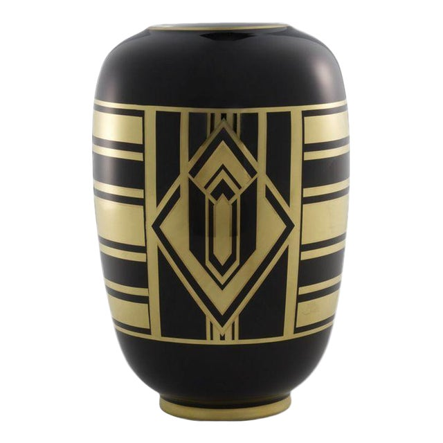 "Ralph Lauren ""Callia"" Diamond Art Deco Vase - Image 1 of 6"