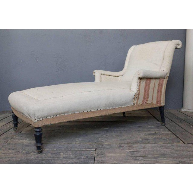 French 19th Century Chaise Longue With Scrolled Back - Image 6 of 8