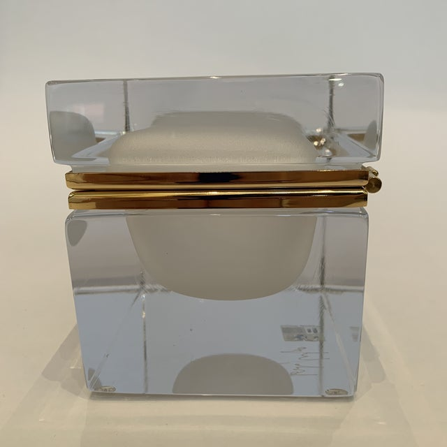 Italian 21st Century Murano White Crystal Jewel Box by Mandruzzato For Sale - Image 3 of 10