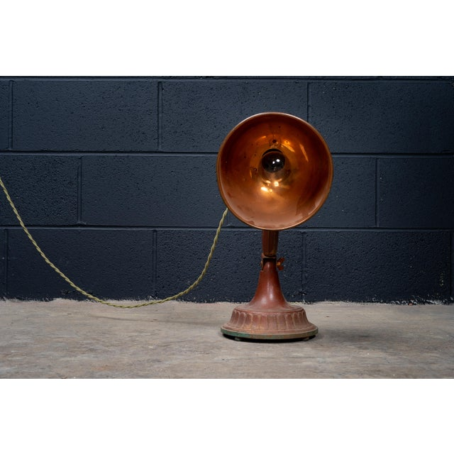Metal Antique 1920s Infralite Desk Lamp For Sale - Image 7 of 10