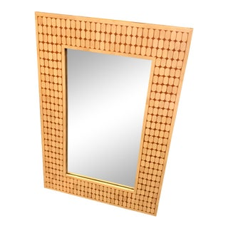 Hand-Made Inlaid Mirror W/ a Cupsule Pattern, Made in India For Sale