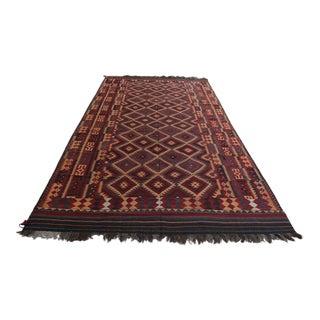 Large Vintage Afghan Tribal Kilim Rug For Sale