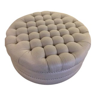 Early 21st Century Vintage Traditional Cocktail Ottoman For Sale