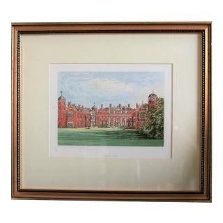 "1880 English Traditional Estate Print, ""Cobham Hall"" For Sale"