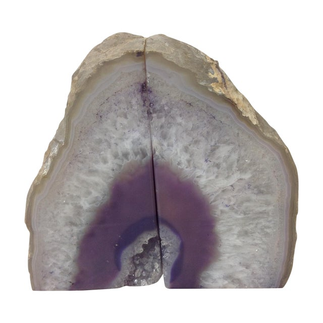 Large Lavender Geodes - A Pair - Image 1 of 5