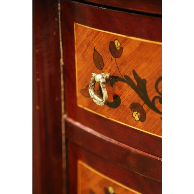20th Century French Louis XV Walnut Commode Chest of Drawers With Marble Top For Sale In Dallas - Image 6 of 13