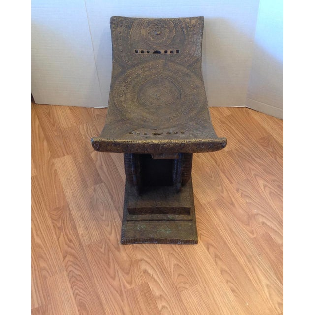 Metal Early 20th Century Ashanti Chief's Bench For Sale - Image 7 of 11