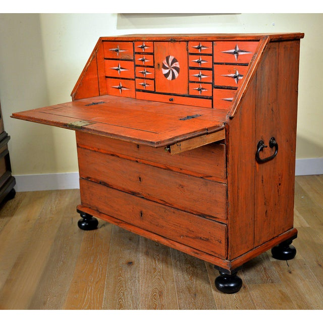 Traditional 1848 Traditional Continental Slant Front Secretary Desk For Sale - Image 3 of 7