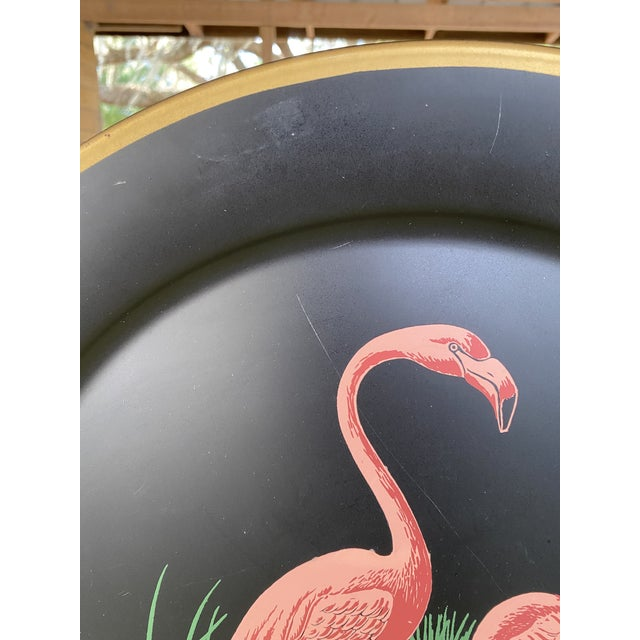 Black Vintage Florida Frank Childers Flamingo Wall Object For Sale - Image 8 of 11