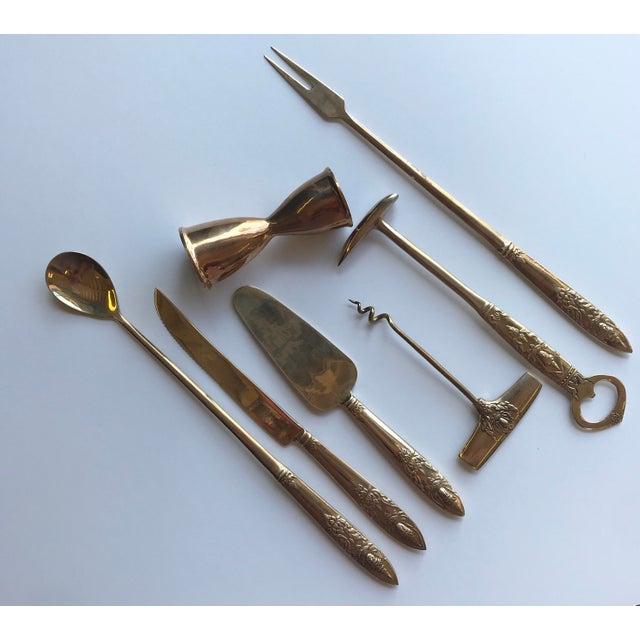 Vintage Bar Tools, Set of 7 For Sale - Image 4 of 4