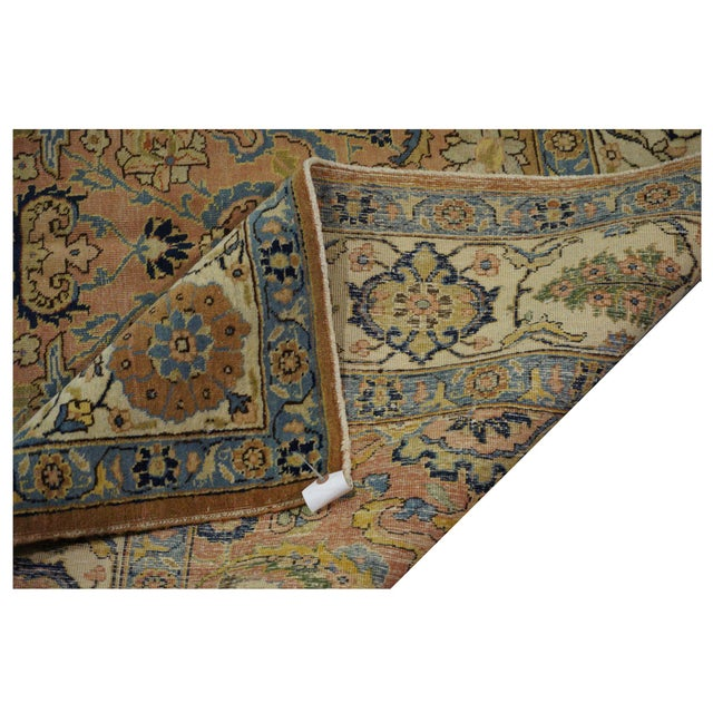 Antique Persian Tabriz Rug - 6'4'' x 9' For Sale - Image 4 of 4