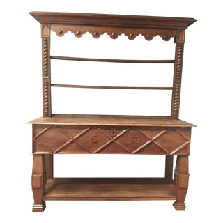 English Oak Sideboard in Neo-Gothic Style