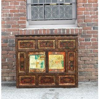 Antique Tibetan Monastery Cabinet Preview