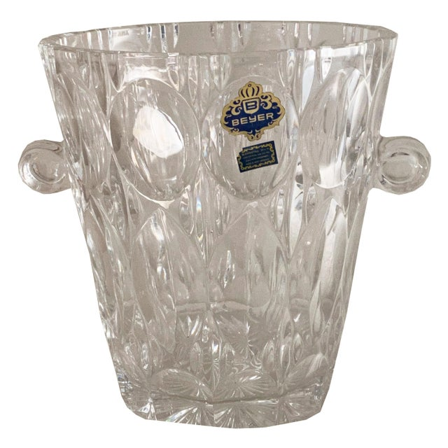 1970s Vintage 1970s Lead Crystal Ice Bucket For Sale - Image 5 of 9
