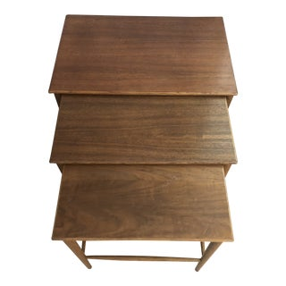 Mid-Century Dux Sweden Teak Nesting Tables - Set of 3 For Sale