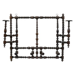 Antique French Wall Hat / Coat Rack For Sale