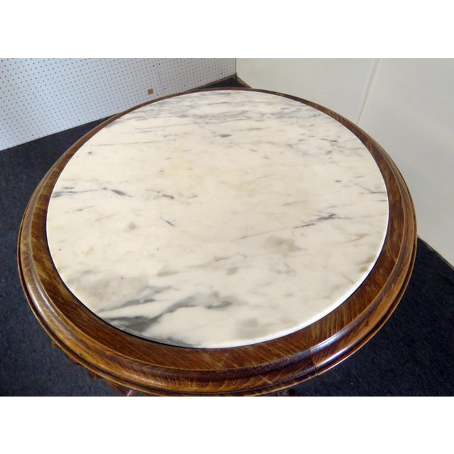 Early 20th Century 20th Century Regency Grosfeld House Marble Top Pedestal For Sale - Image 5 of 10