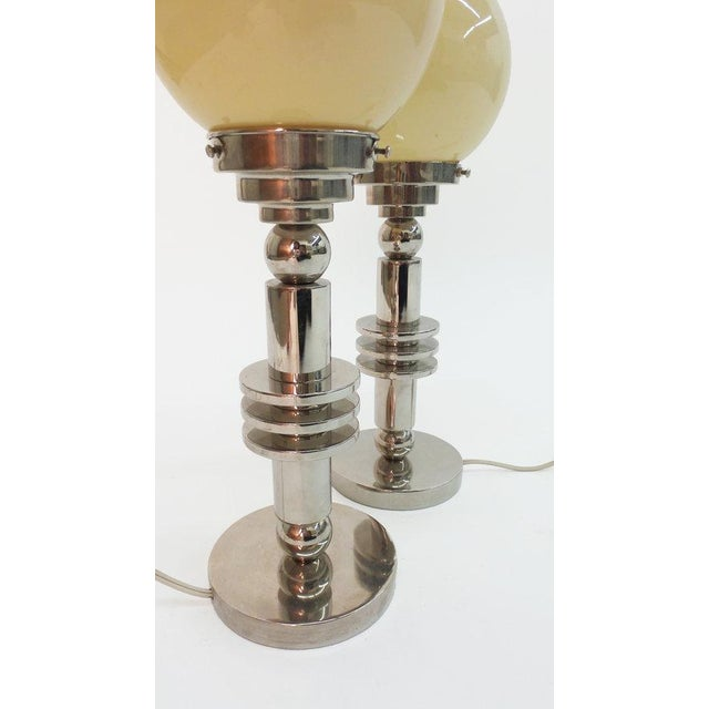 Modernist Chrome Table Lamps For Sale - Image 4 of 5