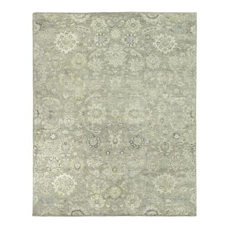 Exquisite Rugs Evie Hand Knotted Wool Beige & Camel - 9'x12' For Sale