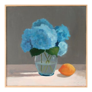 Hydrangea With Lemon by Anne Carrozza Remick For Sale