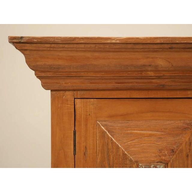 Wood Vintage Indonesian Teakwood Cupboard For Sale - Image 7 of 10