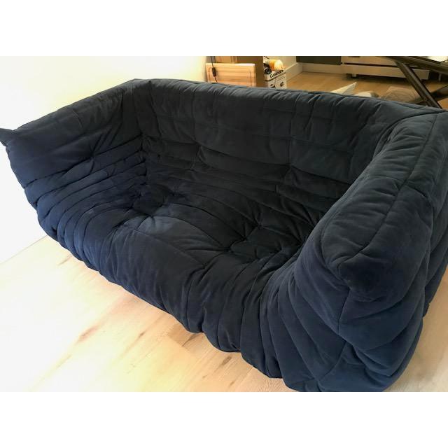 Ligne Roset Navy Alcantara Togo Sofa For Sale In New York - Image 6 of 12