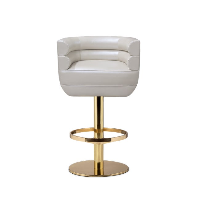 Contemporary Loren Bar Chair From Covet Paris For Sale - Image 3 of 3