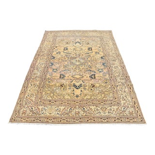 Vintage Turkish Oriental Floral Design Rug - 4′11″ × 7′2″