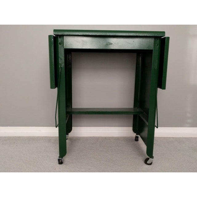 Cole Steel Green & Gold Typewriter Stand - Image 5 of 11
