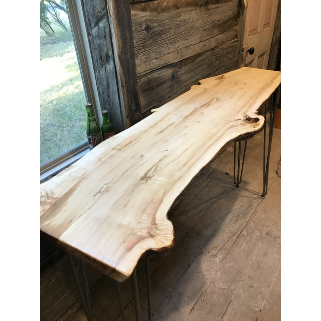 Live Edge Console Table For Sale - Image 10 of 12