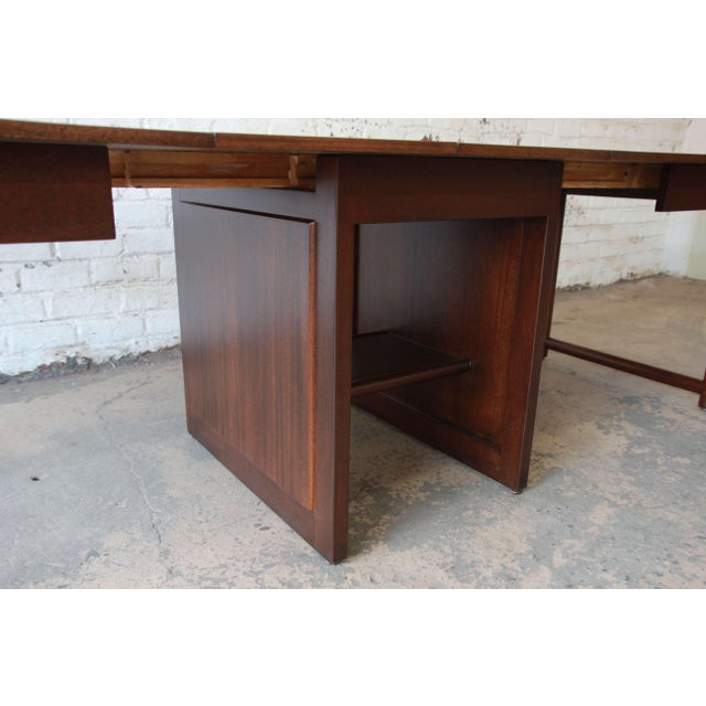 Large Edward Wormley for Dunbar Mahogany Extension Dining Table For Sale - Image 11 of 13