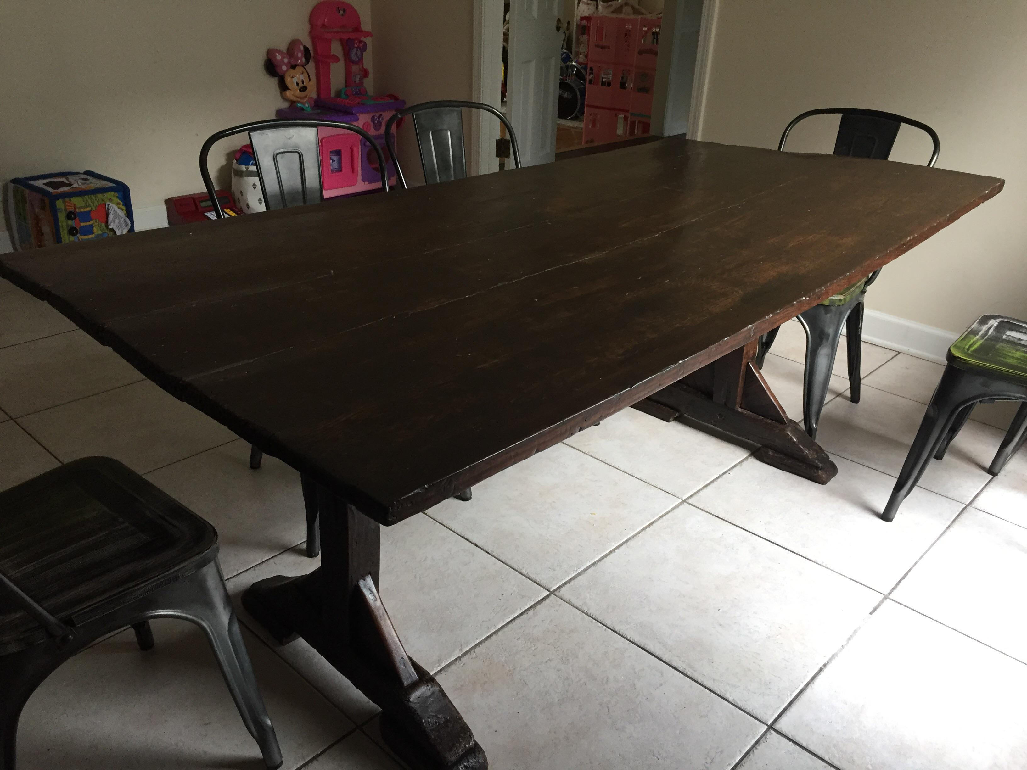 Antique Farmhouse Dining Table Chairish